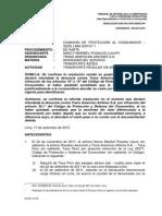 Resolución Indecopi - Vigencia Del DNI Ante Aerolínea