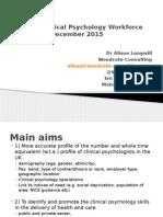CLINICAL PSYCHOLOGY UK WORKFORCE PROJECT