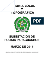 Memoria Local y Topografica Paraguachon