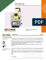 GeoMAx ZT20 UserManual Es V1.10