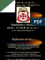 Simbolismo y Filosofía Gr 31° REAA_2015