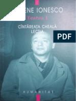 215274749 Eugen Ionescu Teatru Vol 1 Cantareata Cheala Lectia v 1 0
