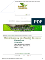 Determinacion y Clasificacion de Costos _ Agroproyectos_ Proyectos Productivos, Corridas Financieras, Planes de Negocios