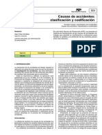 INSHT - Causas de Accidentes Clasificacion y Codificacion