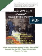 Presepe Vivente  a Vailate 26 dicembre 2015