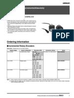 Fabricantes Omron PDF Encoders E6C3