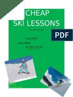 ski leasons flier