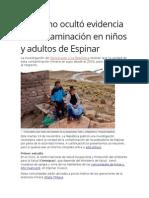 Gobierno Ocultó Evidencia de Contaminación en Niños y Adultos de Espinar