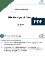CE 308 Lec 9 Mix Design of Concrete