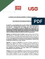 Propuesta Comunicado Conjunto CCOO USO