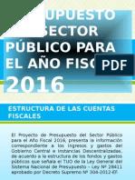 Presupuesto Del Sector Público Para El Año Fiscal