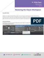 AutoCAD 2016- Restoring the Classic Workspace