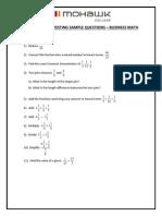Grade 11 Business Math Sample Questions