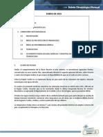 Boletín Climatologico Enero 2015