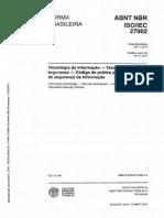 NBR ISO27002 - 2013