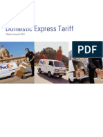 India Domestic Tariff Cards