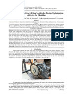 Development of Software Using Matlab for Design Optimization of Brake for Minibike