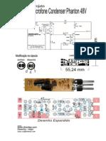 Projeto Microfonez Condenser Phanton 4e8V Projeto Completo - II