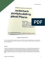 MuscleHack Bodybuilding Meal Plans