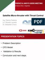 Satellite Micro Thruster With Thrust Control