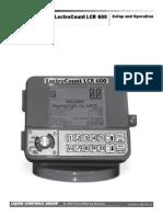 LCR 600 Manual Setup