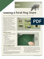 Building a Feral Hog Snare