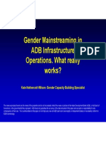 Gender Mainstreaming in ADB Infrastructure Operations