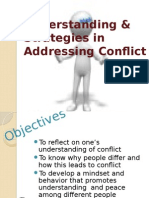 Understanding & Strategies in Addressing Conflict