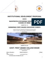 RUSA Institutional Development Proposal