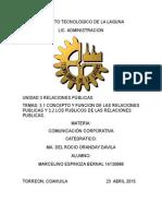 UNIDAD 3 Relaciones Publicas (3.1 y 3.2)
