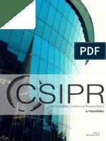 CSIPR E-Newsletter Issue 1