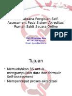 Tata Laksana Pengisian Self-Assessment Pada Sistem Akreditasi RS Secara Online