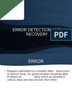 Error Detection _ Recovery