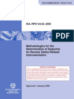 ISA-RP67.04.02-2000 - Methodologies for the Determination of Setpoints for Nuclear Safety-Related Instrumentation