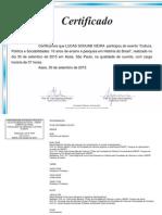 Certificado Cultura Política e Sociabilidades - Ouvinte