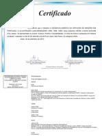 Certificado Apresentação o Desenvolvimento Da Gravura de Madeira Em Portugal