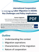 Improving International Cooperation in Managing Labor Migration in ASEAN