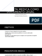 La Receta Medica Como Documento Legal