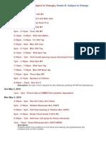 Tech Schedule 2010