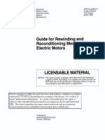 Guide to rewinding and reconditioning medium voltage electric motors