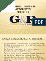 Criminal Defense Attorney Miami, FL