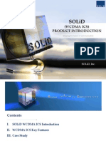 SOLiD WCDMSOLiD WCDMA ICS Product IntroductionA ICS Product Introduction