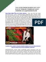 Game Poker Online Uang Asli Terbaik Indonesia