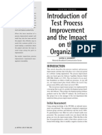 Introduction of Test Process Improvement