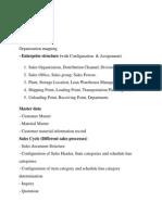 SAP SD Syllabus
