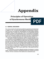 Principles of Operation of Syncronous Machines