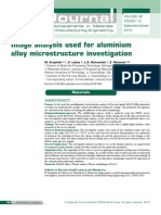 Image Analysis Used for Aluminium Alloy Microstructure Investigation
