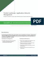 IT Application Lifecycle Management Vendor Landscape Storyboard Sample