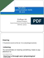 Listening Skills Fall 2015 EE (Comm Skills) by Zulfiqar Ali