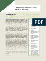 B&BC Botanical Society Newsletter - Issue 1 (2014)